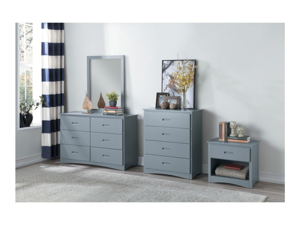 Home Style GrayYouth Night Stand