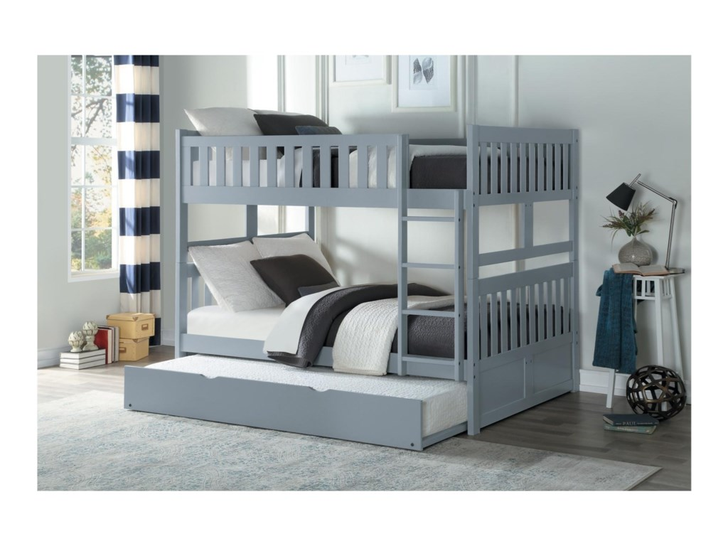 Homelegance OrionFull Over Full Bunk Bed with Trundle Unit