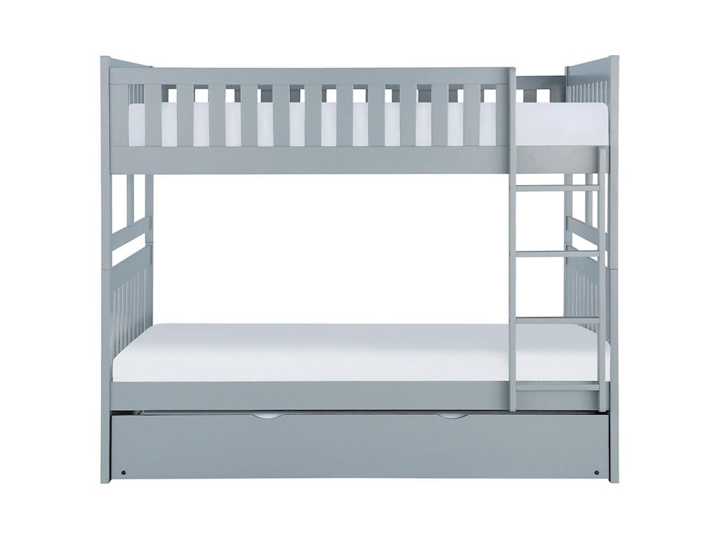 Homelegance OrionFull Over Full Trundle Bunk Bed