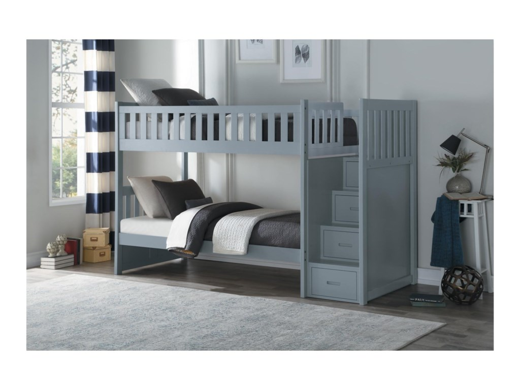 Homelegance OrionTwin Over Twin Bunk Bed