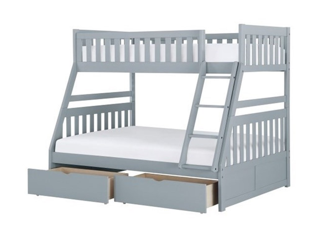 Elegance DiscoveryTwin Over Full Storage Bunk Bed