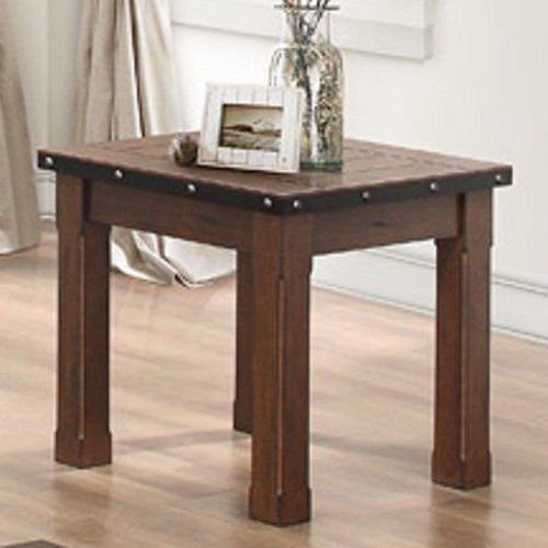Homelegance Schleiger Industrial End Table With Metal Band And Exposed Rivets Beck 39 S Furniture