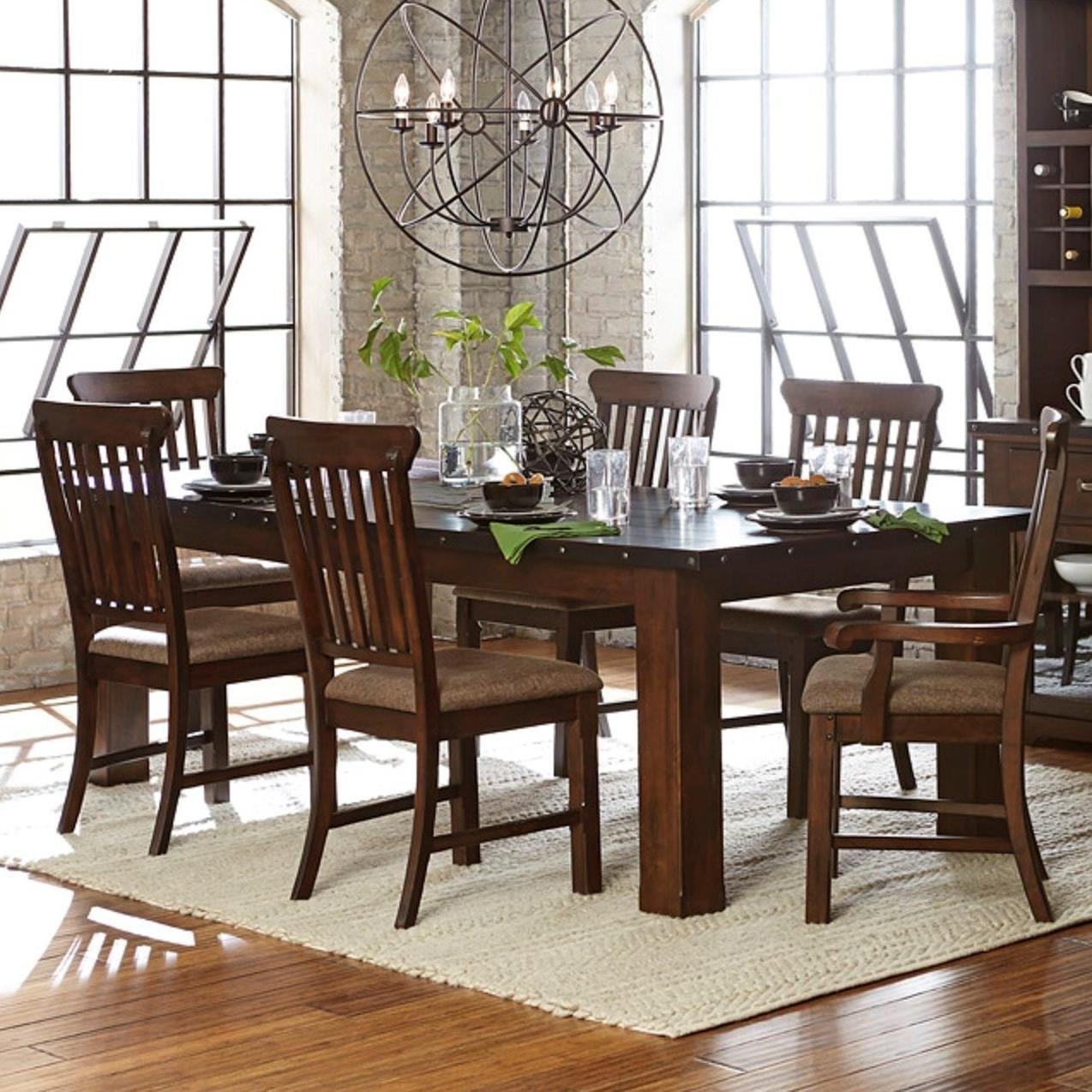 Schleiger Industrial Table and Chair Set by