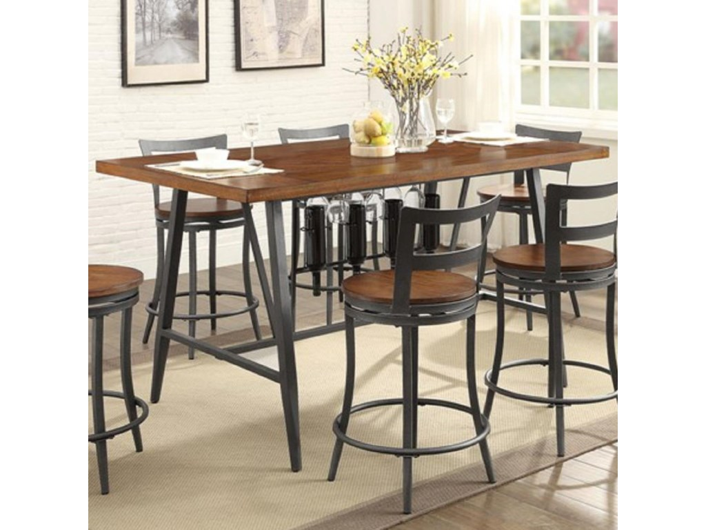Homelegance Selbyville 5489wd 36 Contemporary Counter Height Table