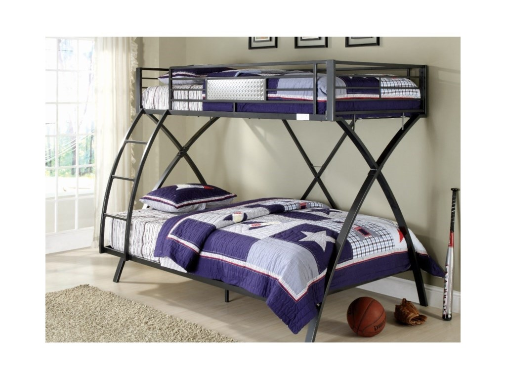 Homelegance Spaced OutTwin Over Full Bunk Bed