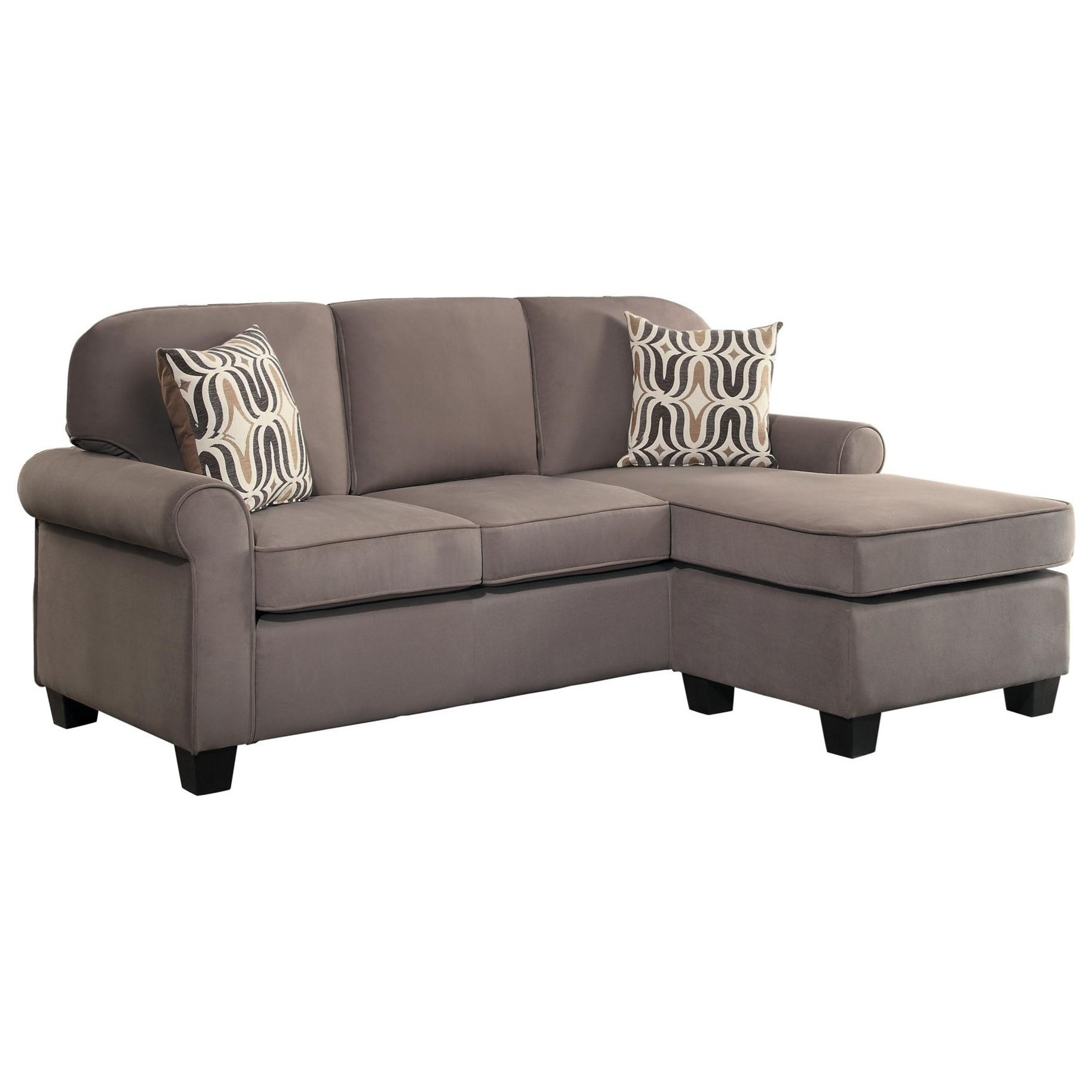 Homelegance Sprague Transitional Sofa With Reversible Chaise