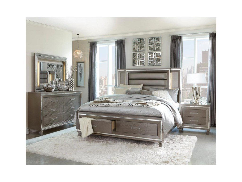 Homelegance TamsinCalifornia King Upholstered Bed