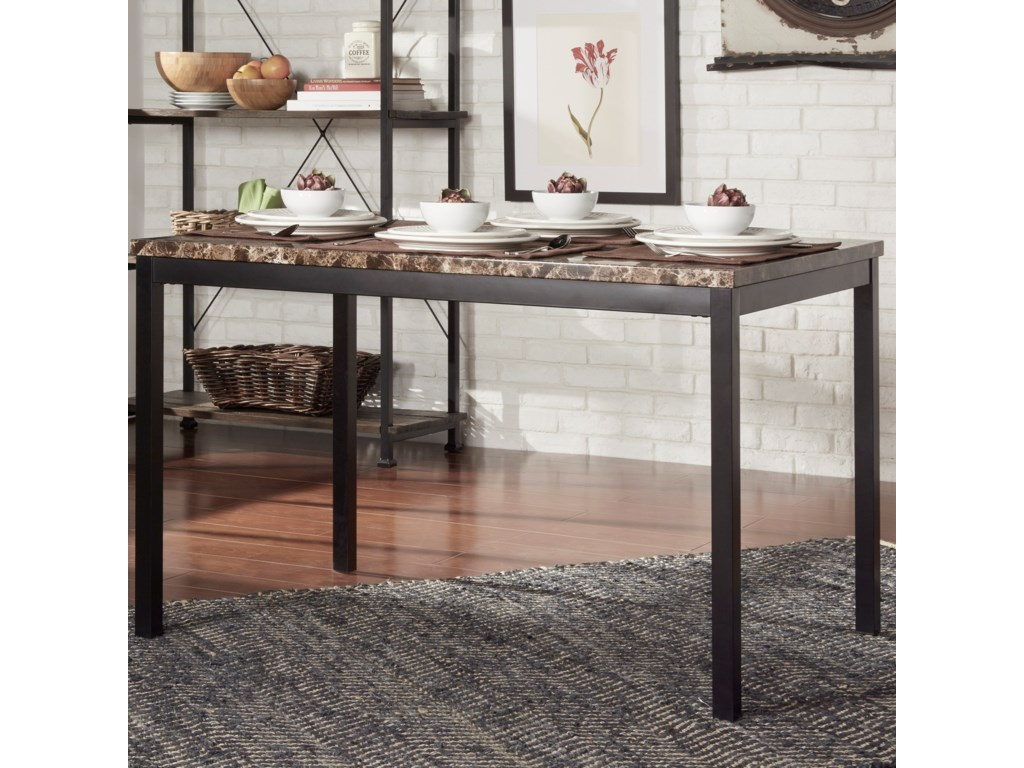 Homelegance Tempe 2601-48 Casual Kitchen Table with Faux ...