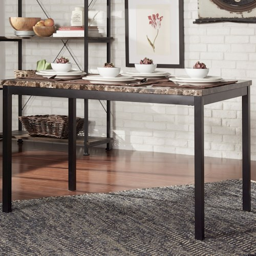Homelegance Tempe Casual Kitchen Table With Faux Marble Top