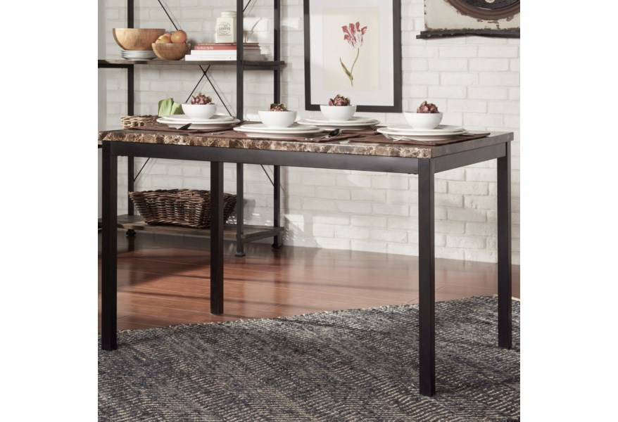 Tempe Casual Kitchen Table With Faux Marble Top By Homelegance At Simply Home By Lindy S