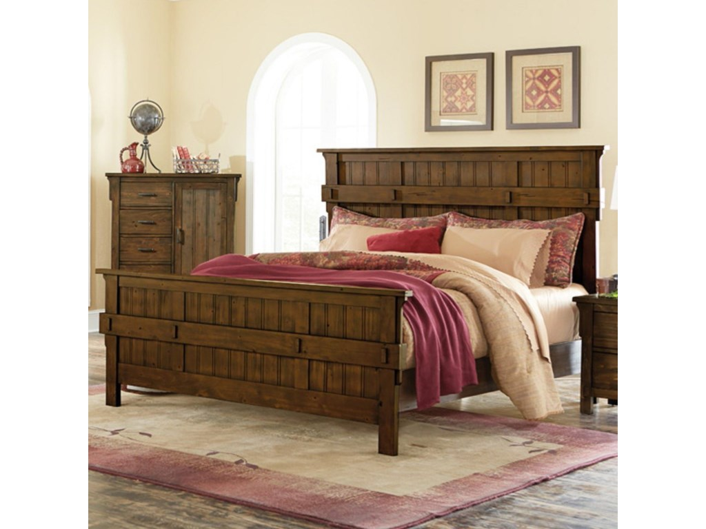 Homelegance TerraceMission Queen Headboard and Footboard