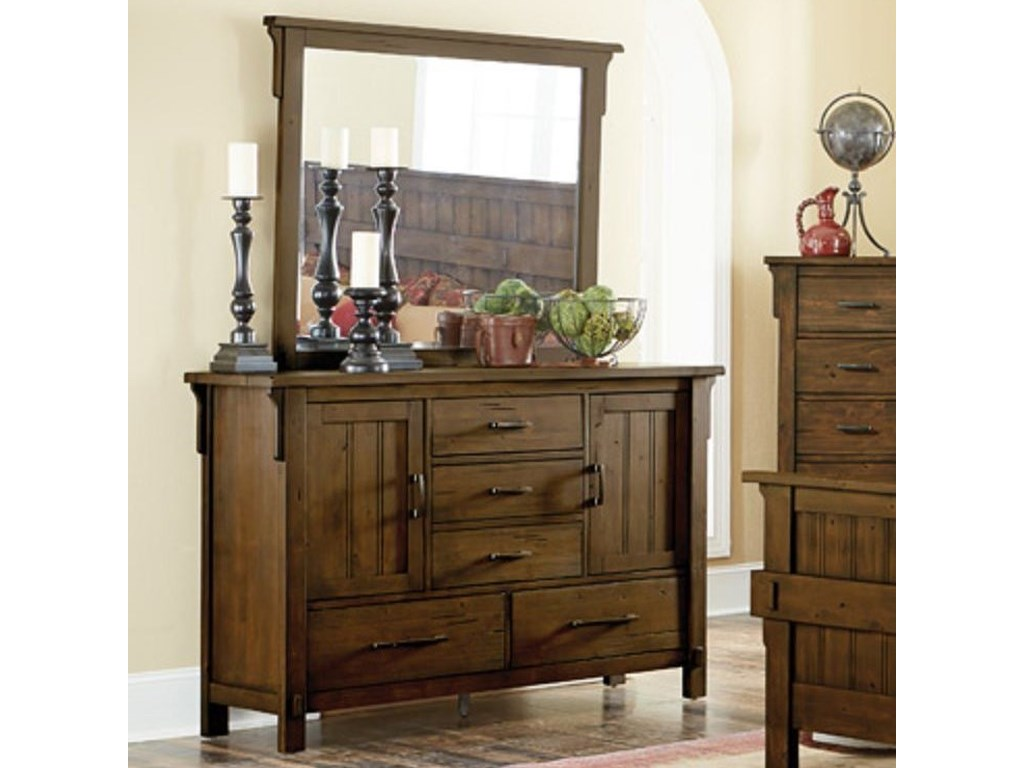 Terrace Mission Dresser And Mirror By Homelegance At Value City Furniture