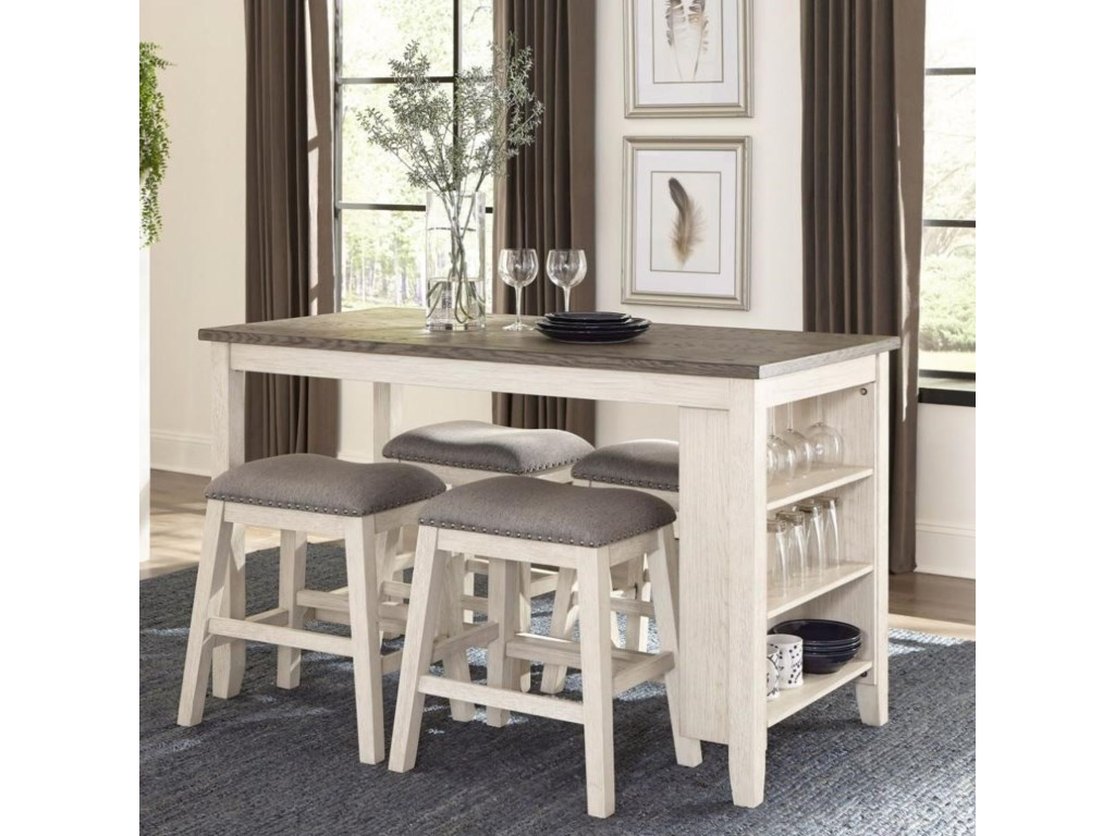 Homelegance Timbre5-Piece Counter Height Table Set