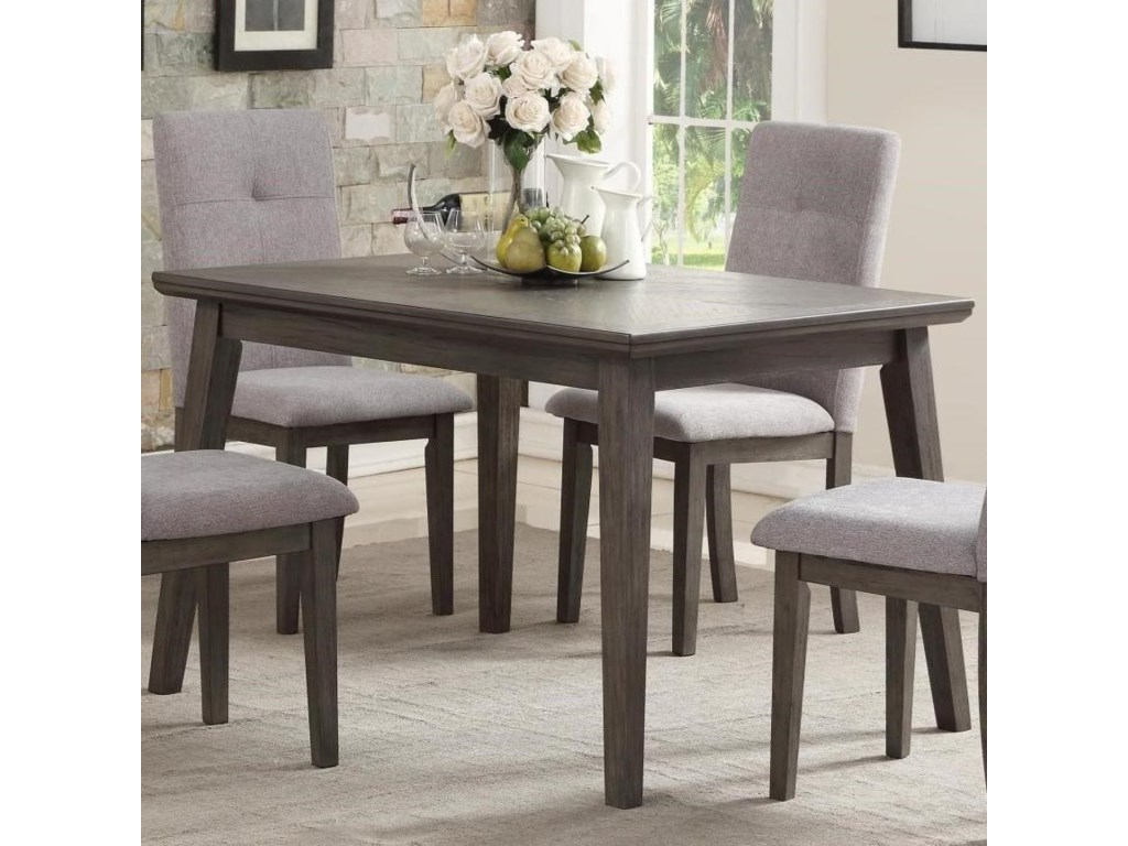 University Transitional Rectangular Dining Table By Homelegance