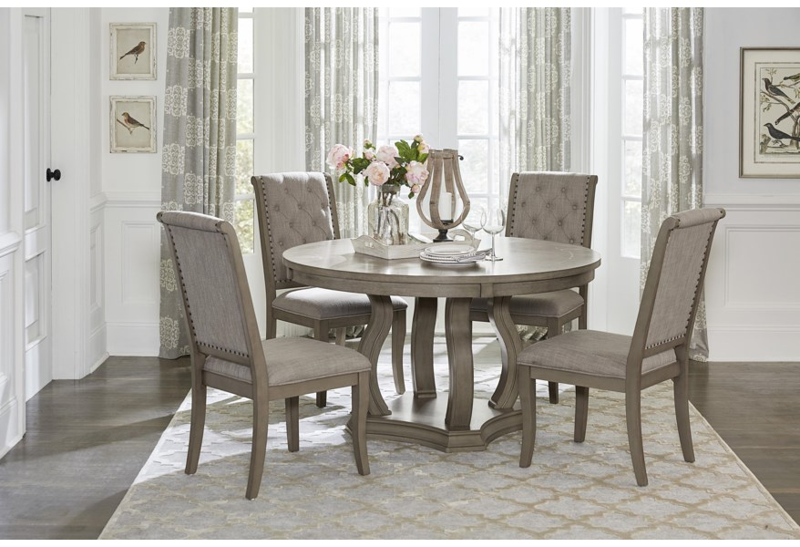 Homelegance Vermillion 345475370 Transitional 5 Piece Round Dining Table Set Beck S Furniture Dining 5 Piece Sets