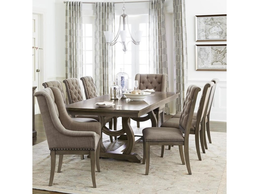Vermillion Transitional Dining Table Set With 8 Chairs By Homelegance At Darvin Furniture