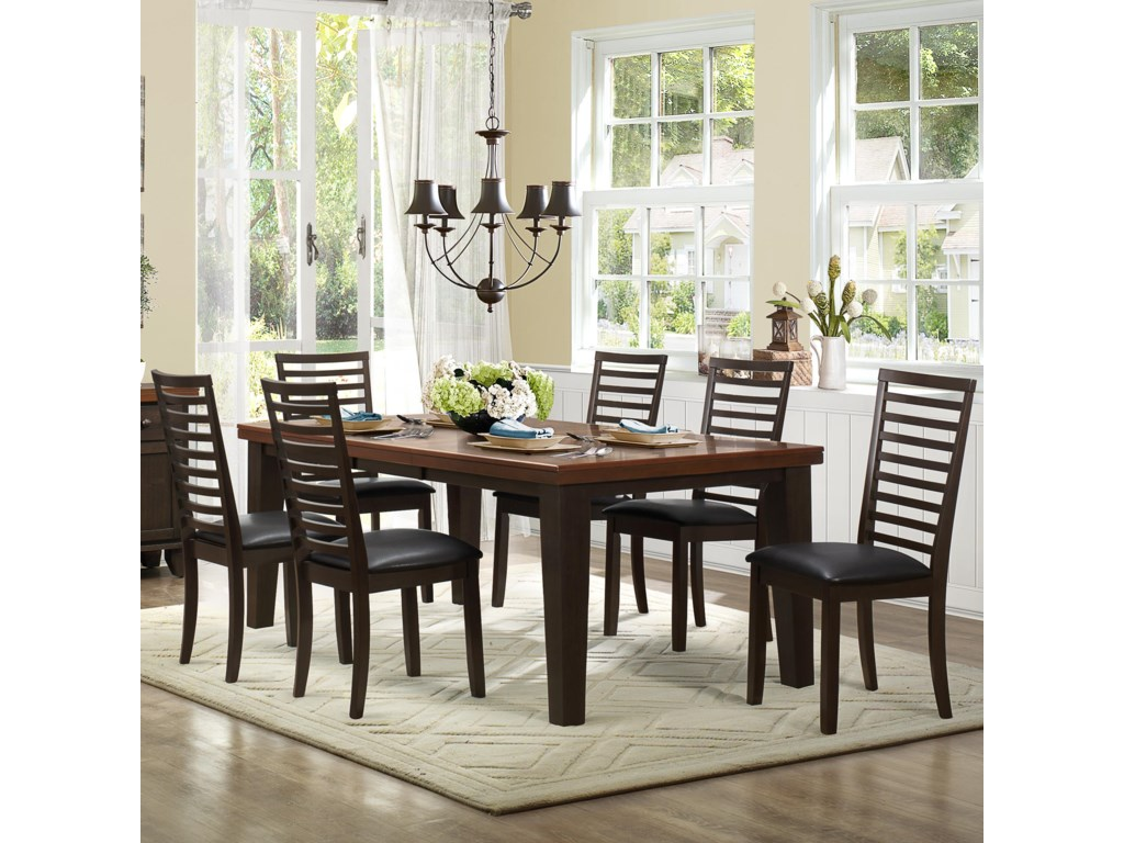 Homelegance Walsh7 Piece Table & Chair Set