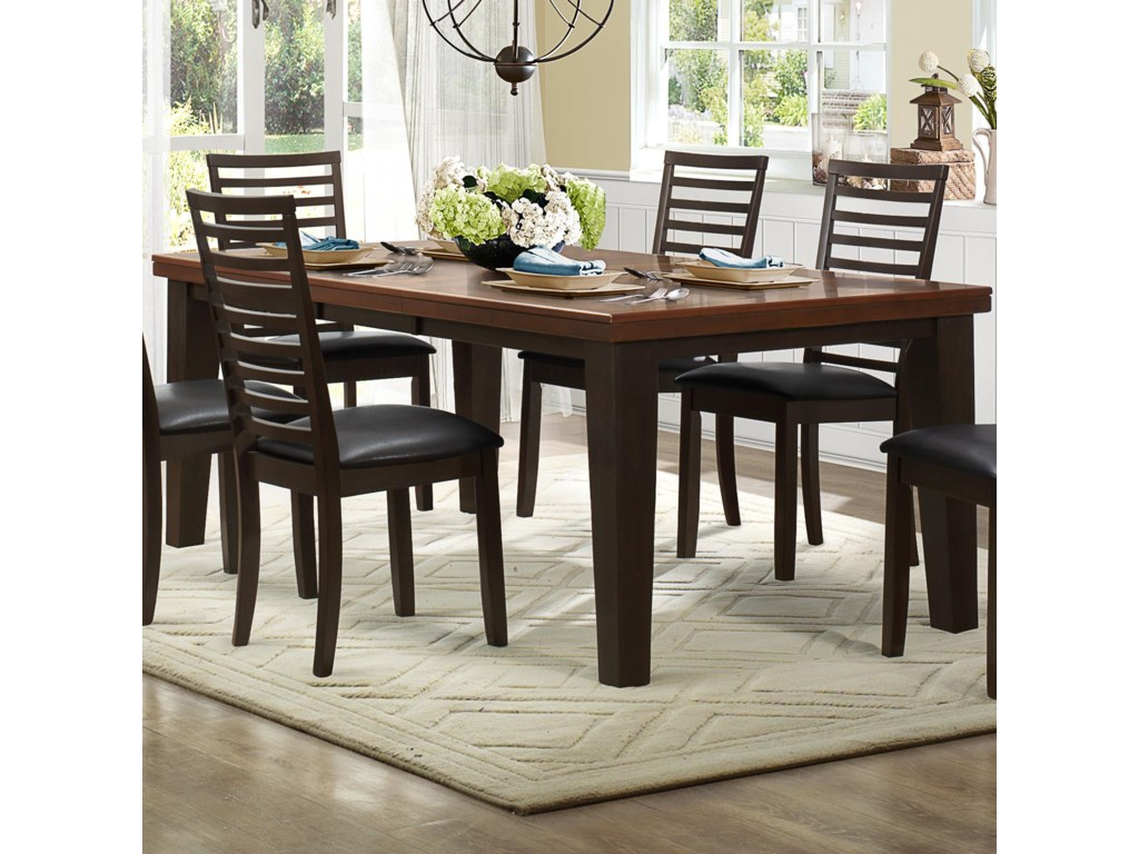 Homelegance WalshRectangle Dining Table with Leaf