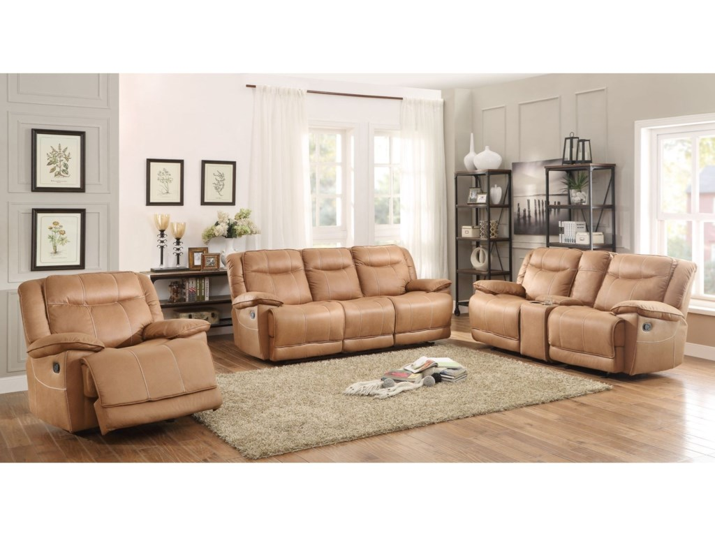 Homelegance WasolaCasual Reclining Loveseat