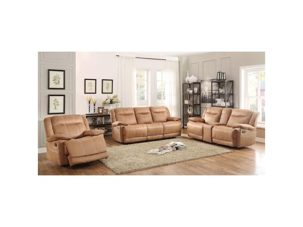 Homelegance WasolaCasual Reclining Sofa