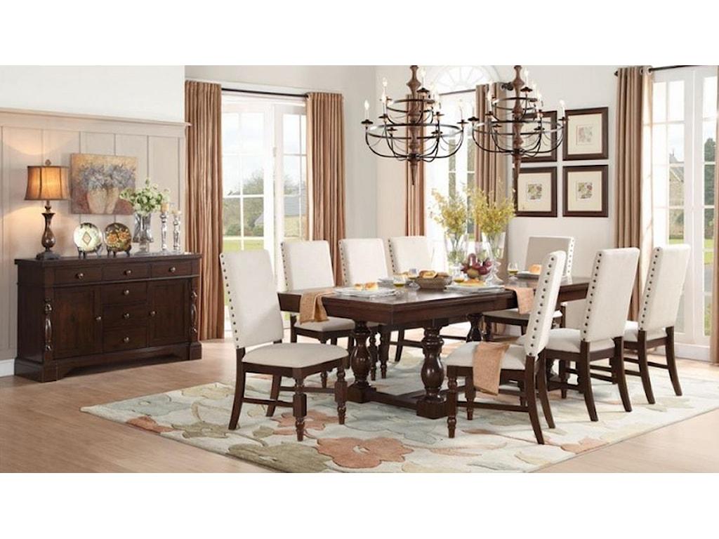 Homelegance Yates 9 Piece Table & Chair Set