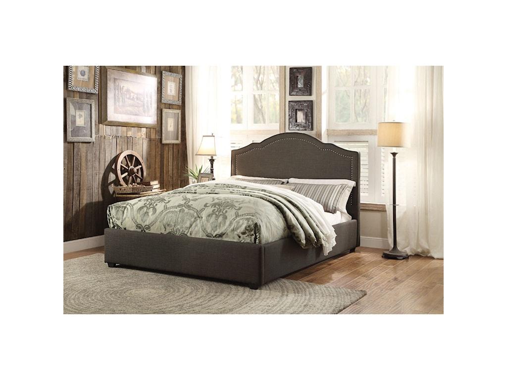 Homelegance ZairaFull Upholstered Bed
