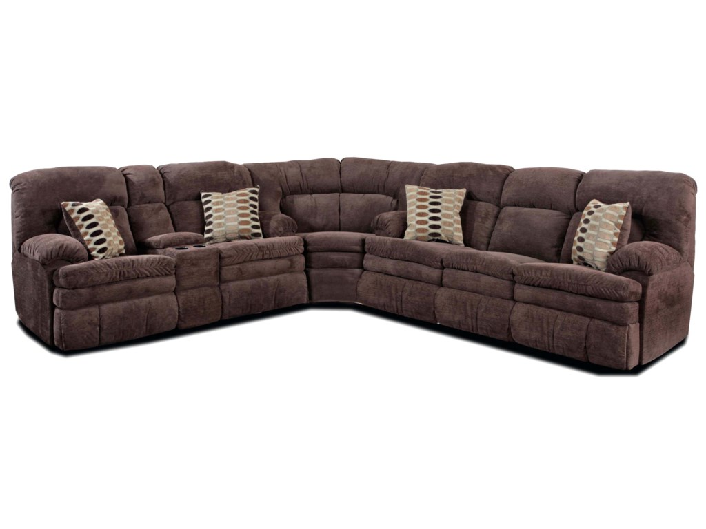 HomeStretch 103 Chocolate SeriesReclining Sectional Sofa