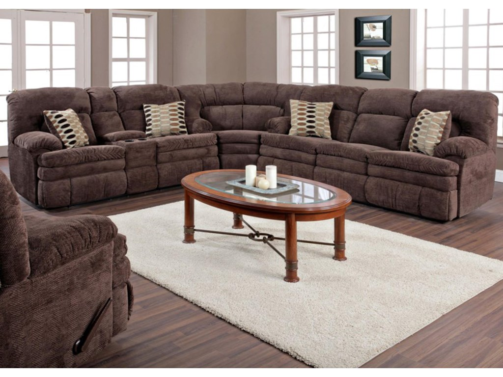 HomeStretch 103 Chocolate SeriesDouble Reclining Sofa