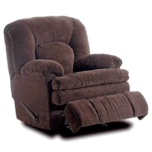 HomeStretch 103 Chocolate Series Comfortable Rocker Recliner in Soft Chenille Fabric