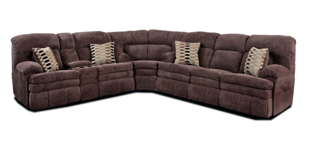 HomeStretch 103 3-Piece Casual Two-Tone Reclining Sofa Sectional - John V  Schultz Furniture - Reclining Sectional Sofa