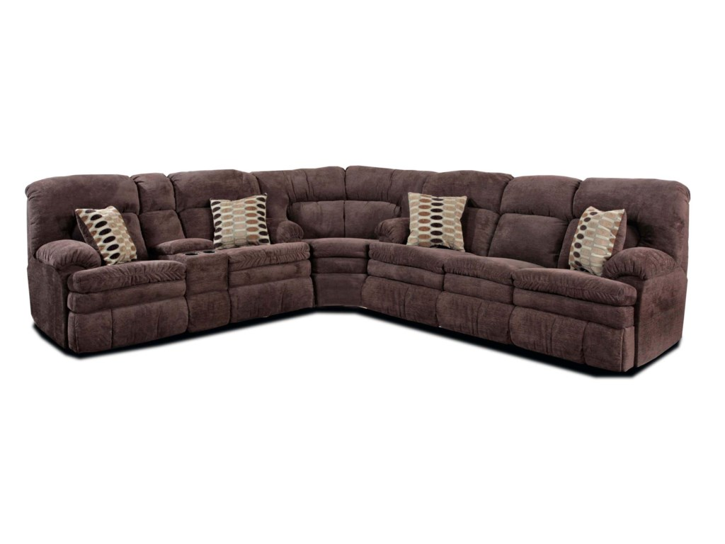 HomeStretch 1033-Piece Reclining Sectional