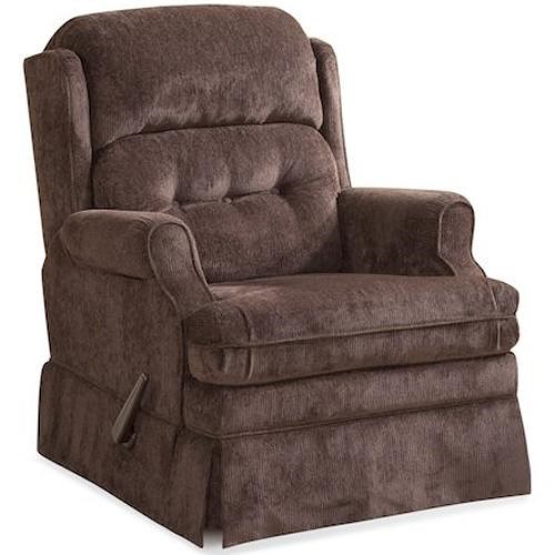 HomeStretch 106 Casual Swivel Glider Recliner with Tufted Split Back
