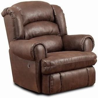 HomeStretch 113 Casual Power Big and Tall Recliner with Rolled Arms