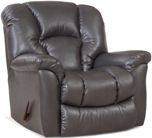 HomeStretch 116 Casual Rocker Recliner with Bucket Seat