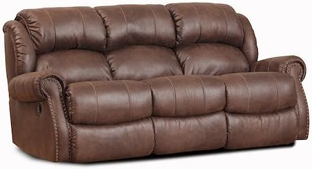 HomeStretch 120 - 22  Casual Double Power Reclining Sofa