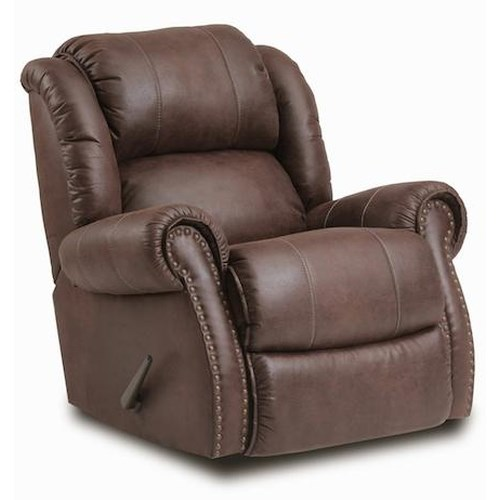 Comfort Living 120 - 22 Casual Rocker Recliner w/ Exposed Handle