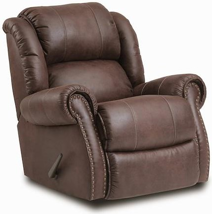 HomeStretch 120 - 22 Casual Rocker Recliner w/ Exposed Handle
