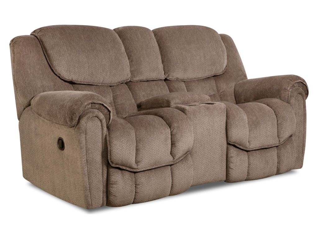 HomeStretch 122Rocking Console Reclining Loveseat