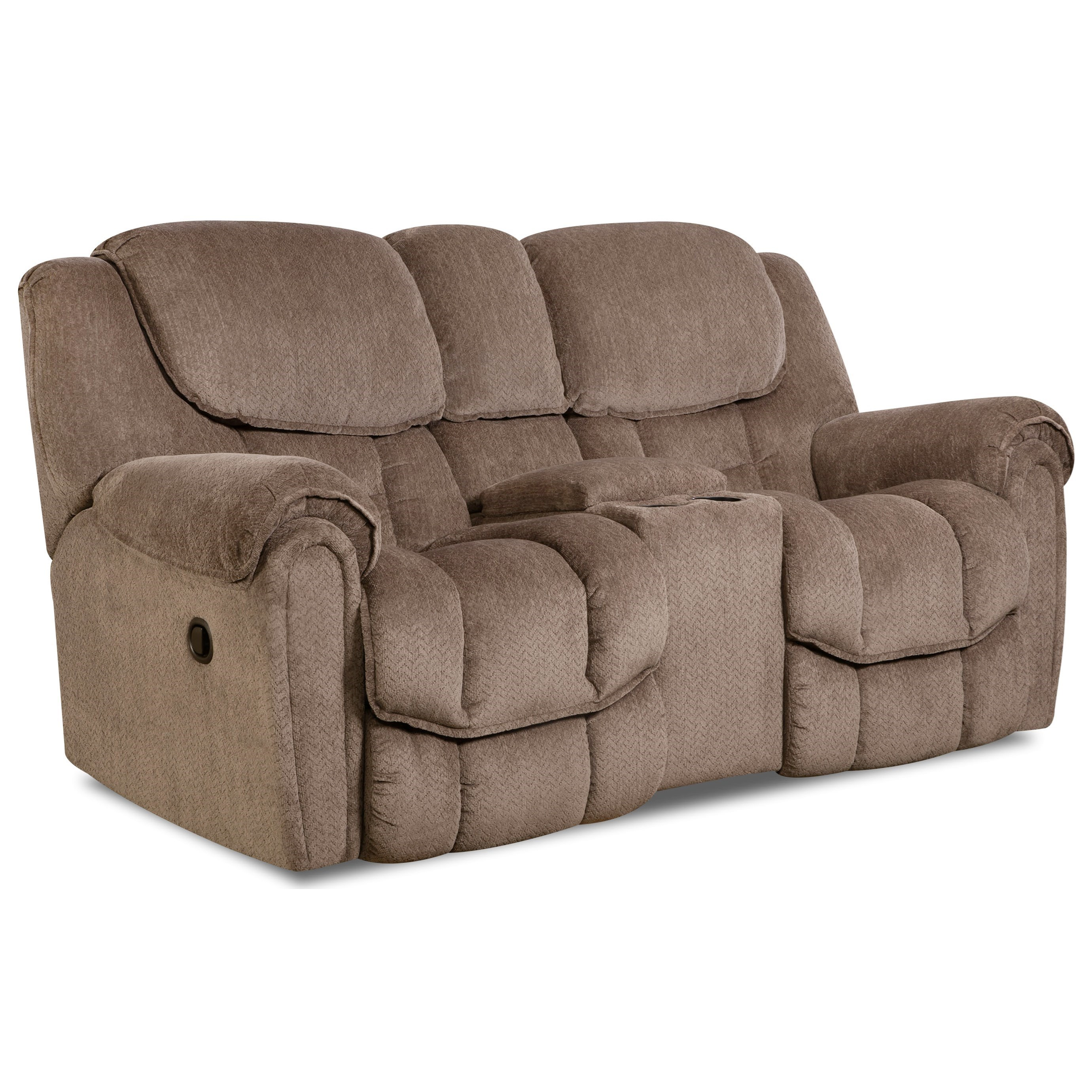 Baxter Casual Reclining Loveseat With Storage In Arm By Comfort Living