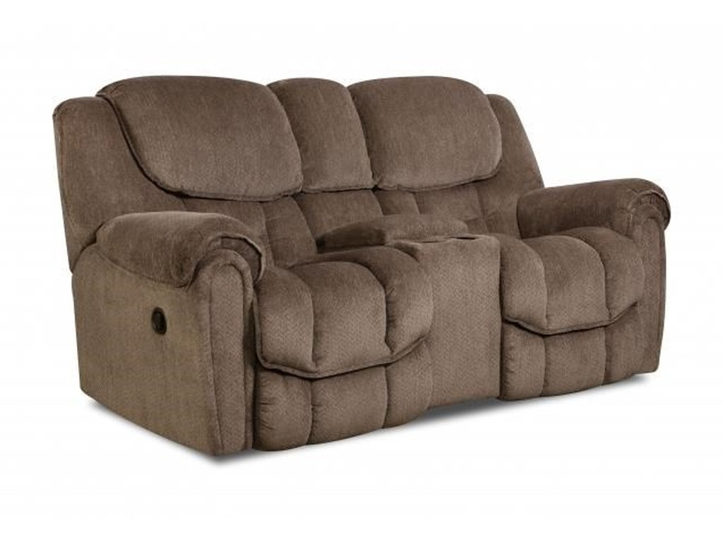 HomeStretch 122Reclining Console Loveseat