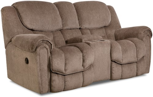 Comfort Living Baxter Casual Power Reclining Loveseat with Storage in Arm