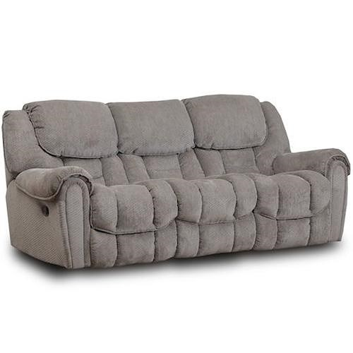 HomeStretch 122 Casual Reclining Sofa With Pillow Top Arms