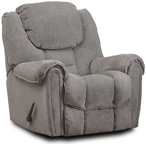 HomeStretch 122 Casual Rocker Recliner with Pillow Top Arms