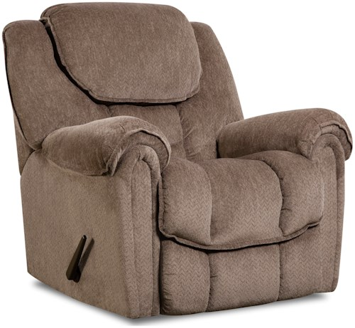 HomeStretch 122 Casual Power Rocker Recliner with Pillow Top Arms