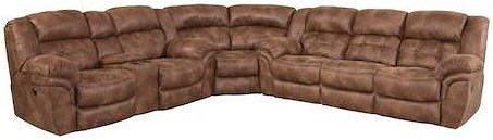 HomeStretch 129 Casual Super-Wedge Sectional with Tufted Seats and Back