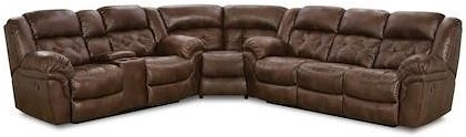 HomeStretch 129 Casual Power Super-Wedge Sectional with Tufted Seats and Back