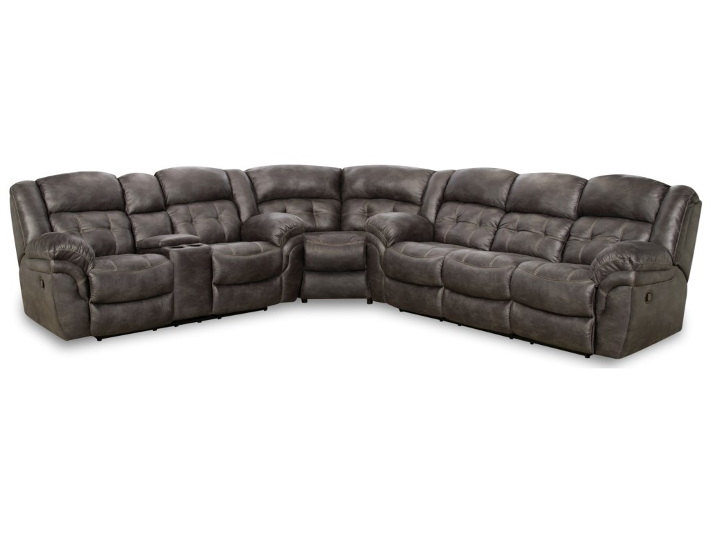 HomeStretch 129Power Super-Wedge Sectional