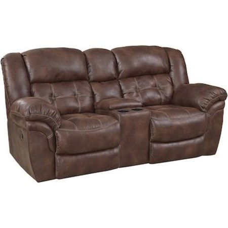 Reclining Power Console Loveseat