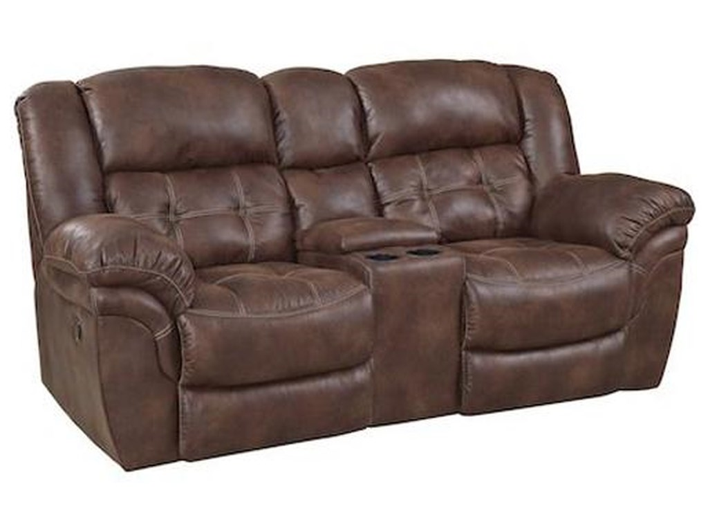 HomeStretch 129Reclining Console Loveseat