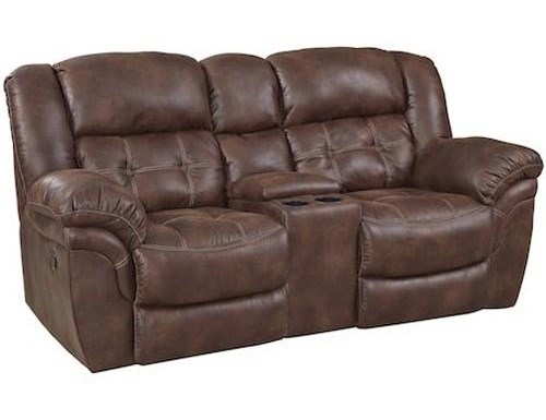 HomeStretch BuckhornReclining Power Console Loveseat